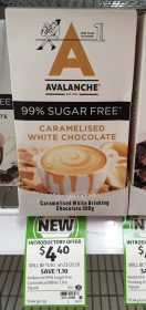 Avalanche 10 Pack Drinking Chocolate Caramelised White Chocolate
