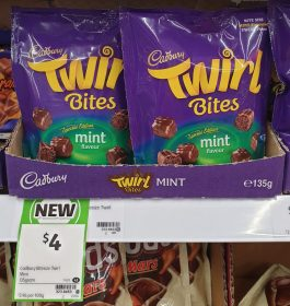 Cadbury 135g Twirl Bites Mint Flavour