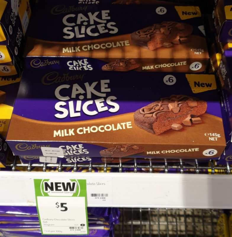 Cadbury 145g Cake Slices Milk Chocolate