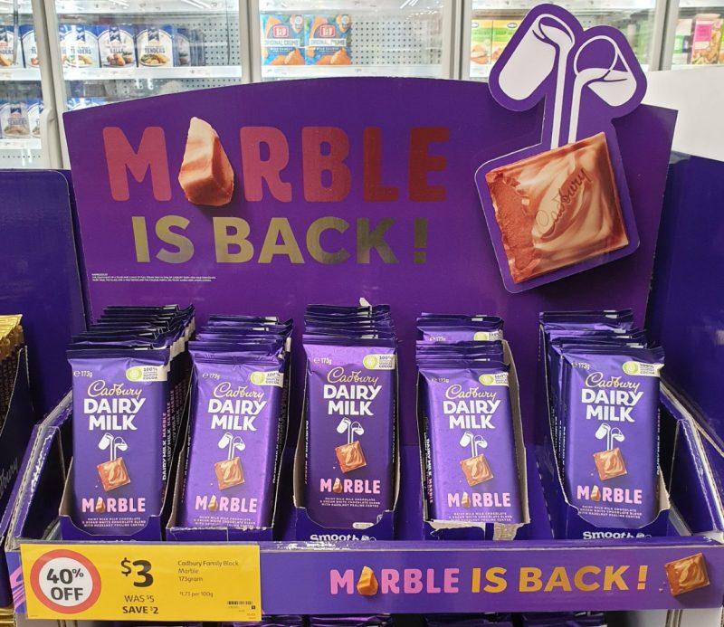 Cadbury 173g Chocolate Milk Marble
