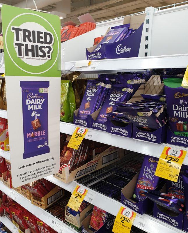 Cadbury 173g Chocolate Milk Marble POS