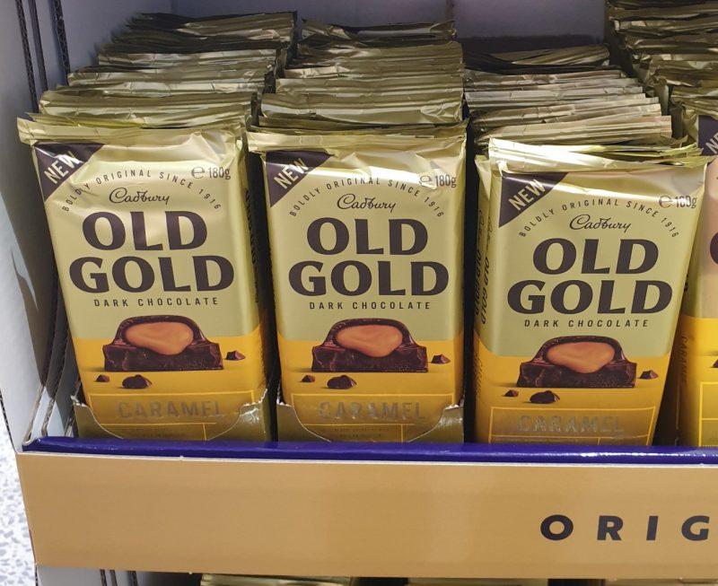 Cadbury 180g Chocolate Dark Old Gold Caramel