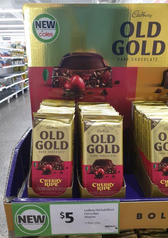 Cadbury 180g Chocolate Dark Old Gold Cherry Ripe