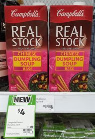 Campbell's 1L Stock Real Chinese Dumpling Soup Base