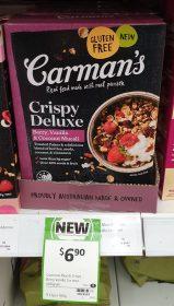 Carman's 400g Crispy Deluxe Muesli Berry, Vanilla & Coconut