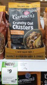 Carman's 750g Crunchy Oat Clusters Golden Oat & Super Seed