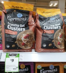 Carman's 750g Crunchy Oat Clusters Oat, Vanilla & Cinnamon