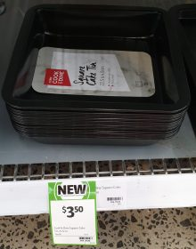 Coles 1 Pack Cook & Dine Cake Tin Square 22.5cm