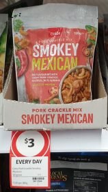 Coles 120g Pork Crackle Mix Smokey Mexican
