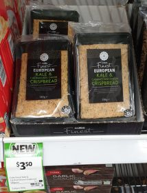 Coles 130g Finest Crispbread European Kale & Caramelised Onion