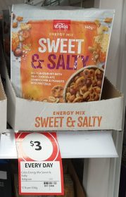 Coles 140g Energy Mix Sweet & Salty