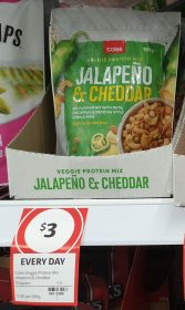 Coles 150g Veggie Protein Mix Jalapeno & Cheddar