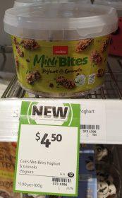 Coles 155g Mini Bites Yoghurt & Granola
