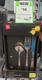 Coles 16 Pack Cook & Dine Cutlery Set