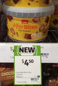 Coles 180g Mini Bites Choc Caramel