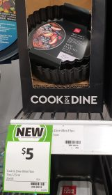 Coles 2 Pack Cook & Dine Mini Flan Tins 12.5cm