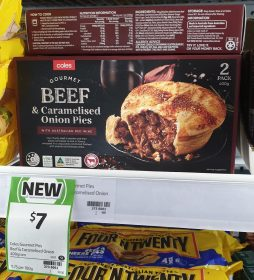 Coles 400g Beef & Caramelised Onion