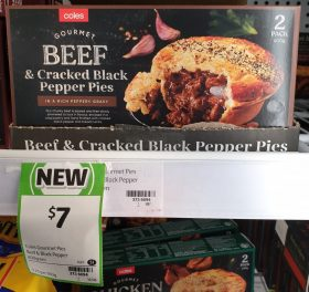 Coles 400g Pies Beef & Cracked Black Pepper