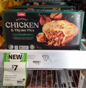 Coles 400g Pies Chicken & Thyme