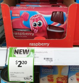 Coles 500g Jelly Raspberry