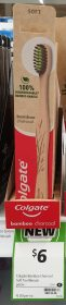 Colgate 1 Pack Toothbrush Bamboo Charcoal Soft