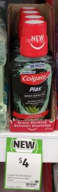 Colgate 250mL Mouthwash Plax Bamboo Charcoal Mint