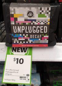 DC Coffee 250g Decaf Unplugged