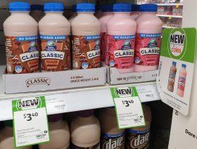 Dairy Farmers 500mL Flavoured Milk No Added Sugar Chocolate, Strawberry