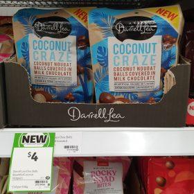 Darrell Lea 160g Milk Chocolate Balls Coconut Craze