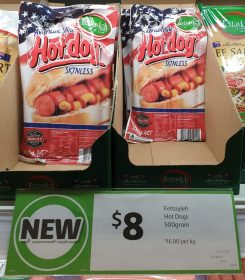 Fettayleh 500g Hot Dogs American Style Skinless