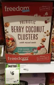 Freedom Foods 360g Clusters Prebiotic Berry Coconut