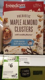 Freedom Foods 360g Clusters Prebiotic Maple Almond