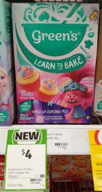 Green's 280g Cupcake Mix Vanilla Trolls