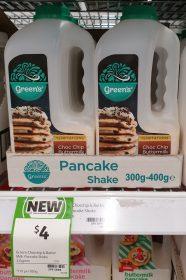Green's 335g Temptations Pancake Shake Choc Chip Buttermilk