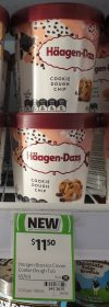 Haagen Dazs 457mL Ice Cream Cookie Dough Chip