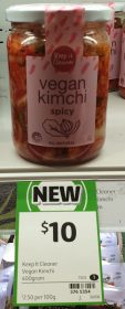 Keep It Cleaner 400g Kimchi Vegan Spicy