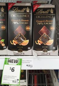 Lindt 100g Excellence 70% Cacao Orange & Almonds