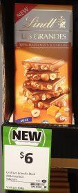 Lindt 150g Les Crandes 38% Hazelnuts & Caramel