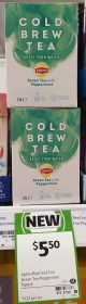 Lipton 27g Tea Cold Brew Green Tea With Peppermint