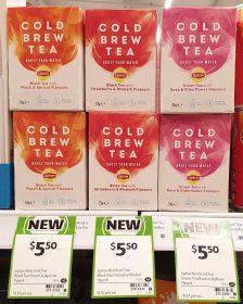 Lipton 33g Tea Cold Brew Black Peach & Apricot, Strawberry & Rhubarb, Green Tea Rose & Elderflower