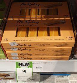 Mr Kipling 180g Slices Peach & Vanilla