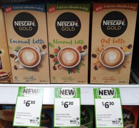 Nescafe 6 Pack Gold Latte Coconut, Almond, Oat