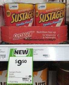 Nestle 550g Sustagen Vanilla Flavour