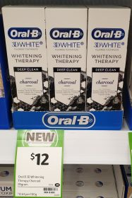 Oral B 95g 3D White Toothpaste Whitening Therapy Charcoal