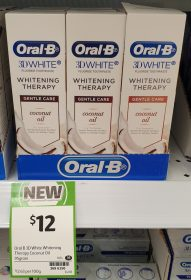 Oral B 95g 3D White Toothpaste Whitening Therapy Coconut Oil