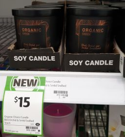 Organic Choice Candle Soy Black Orchid And Smoked Sandalwood