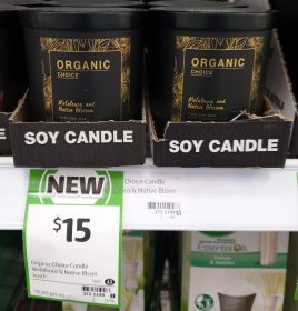 Organic Choice Candle Soy Melaleuca & Native Blossom