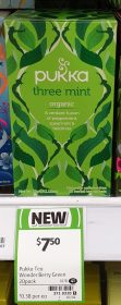 Pukka 32g Tea Herbal Organic Three Mint