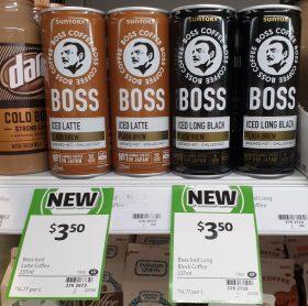 Suntory 237mL Boss Iced Latte, Long Black