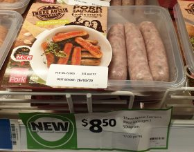 Three Aussie Farmers 500g Sausages Pork By Dan & Steph MKR